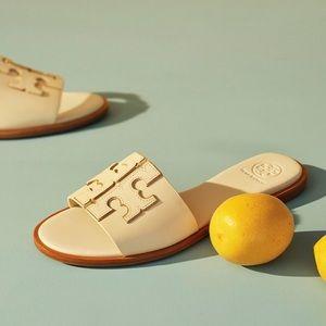 🌻🆕 Tory Burch ❉ Ines Logo Slide Sandal ❉ Daylily